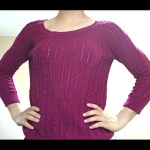 American Eagle Maroon Knitted Sweater